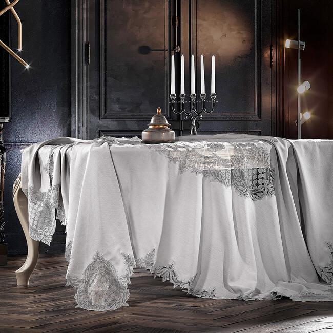 Zebra Casa - Baroque Masa Örtüsü Gri