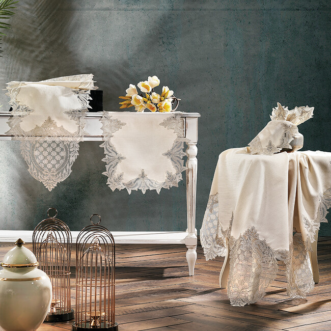 Zebra Casa - Baroque Salon Takımı Bej