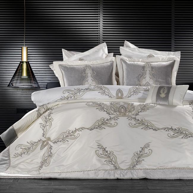 Zebra Casa - Tiara Gri Yatak Örtüsü